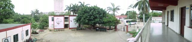 Panoramic view of school